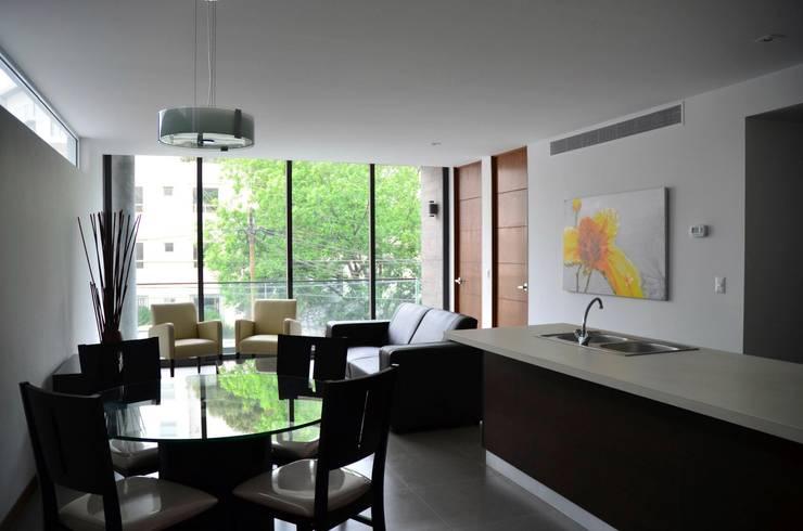 TORRE VISUM: Comedores de estilo moderno por TREVINO.CHABRAND | Architectural Studio
