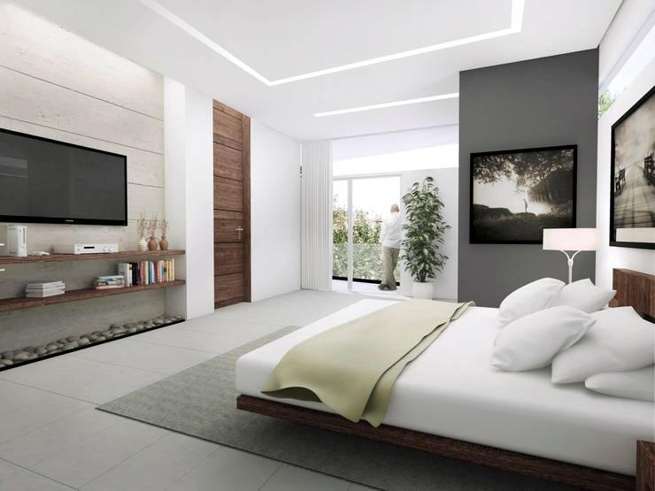 TORRE LAS FUENTES: Recámaras de estilo  por TREVINO.CHABRAND | Architectural Studio