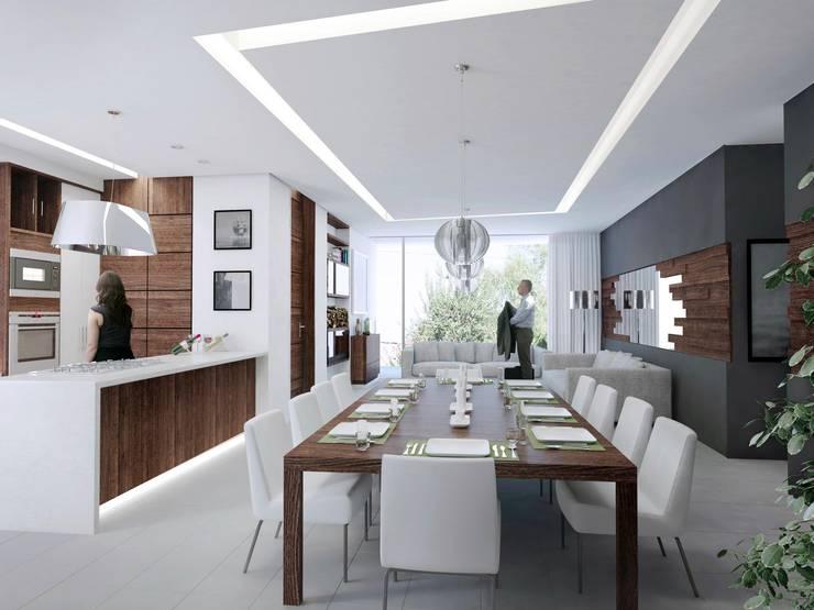TORRE LAS FUENTES: Comedores de estilo  por TREVINO.CHABRAND | Architectural Studio