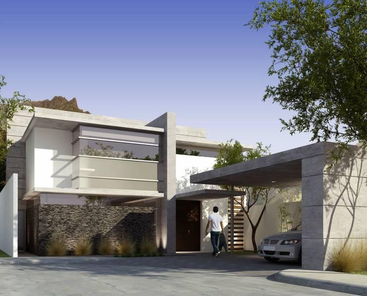 RESIDENCIA LOS LAGOS: Casas de estilo  por TREVINO.CHABRAND | Architectural Studio