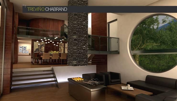 RESIDENCIA SELEKTO STUDIO Y HOME: Salas de estilo  por TREVINO.CHABRAND | Architectural Studio