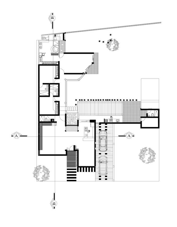 Plano General:  de estilo  por Arquitectura Positiva