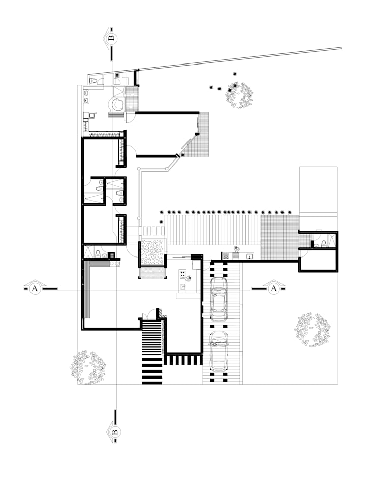 Plano General:  de estilo tropical por Arquitectura Positiva , Tropical