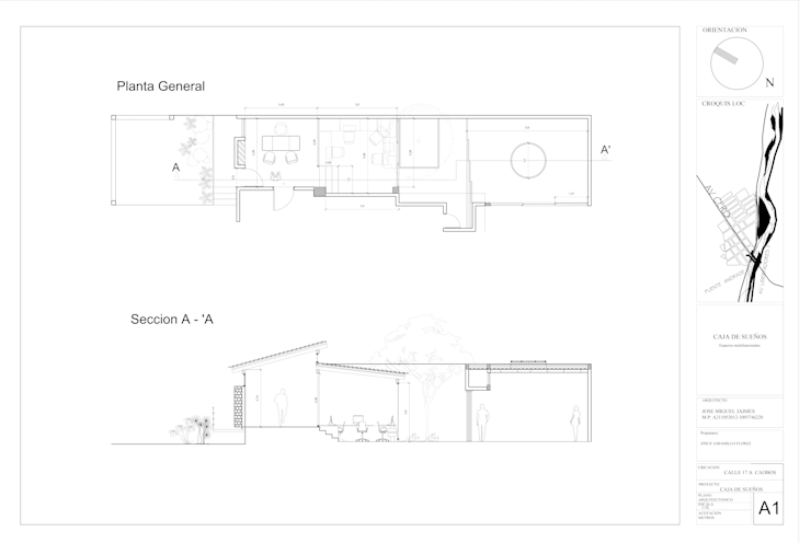 Planos de Taller de Arte & Oficinas de Caja de Sueños :  de estilo  por Arquitectura Positiva