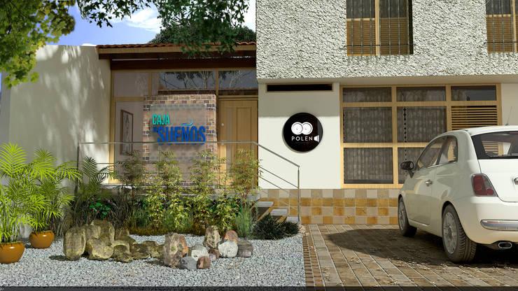 Render de Fachada:  de estilo  por Arquitectura Positiva