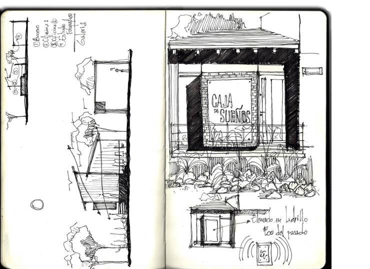 Sketch de Fachada :  de estilo  por Arquitectura Positiva