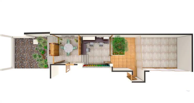 Render de Taller de Arte & Oficinas de Caja de Sueños :  de estilo  por Arquitectura Positiva