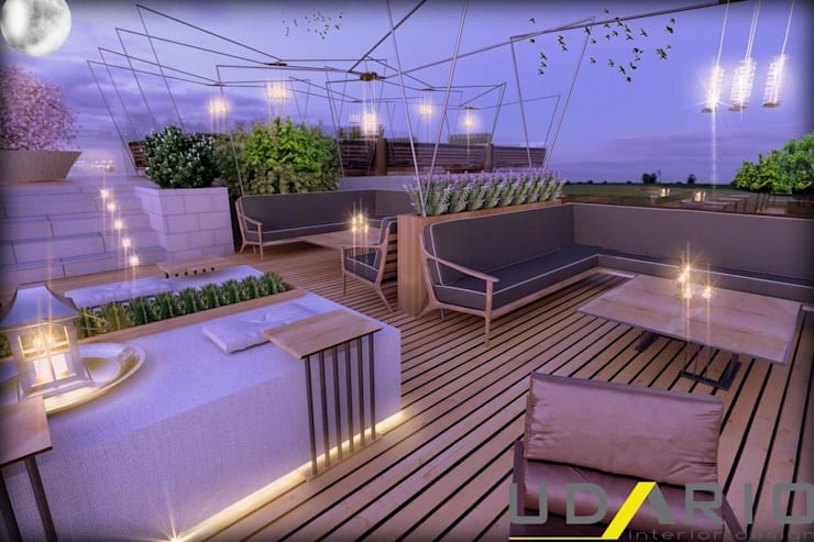 UDARIO İç Mimarlık – B. Lounge:  tarz Bar & kulüpler, Modern