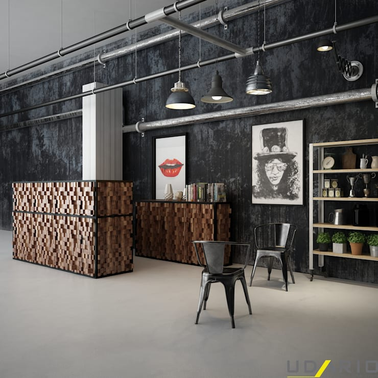 UDARIO İç Mimarlık – K. Ofis Hazırlık Banko:  tarz , Rustik