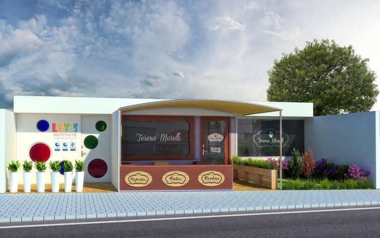 Fachada de Reposteria Fina Teresa Morelli: Casas de estilo  por Arquitectura Positiva ,