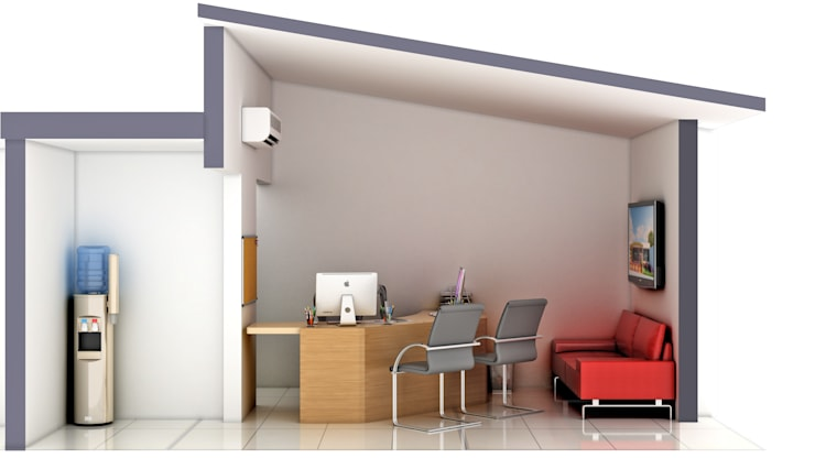 Remodelación de Oficinas LET´S Institute y Repostería Fina Teresa Morelli: Oficinas y tiendas de estilo  por Arquitectura Positiva ,