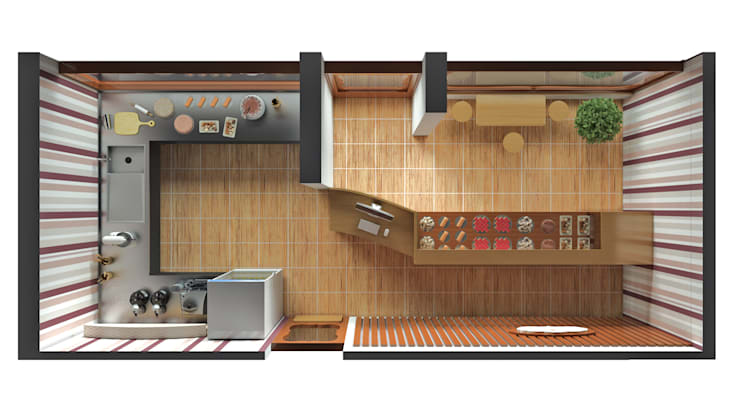 Remodelación de Oficinas LET´S Institute y Repostería Fina Teresa Morelli:  de estilo  por Arquitectura Positiva ,