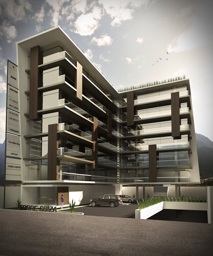 TORRE SIUZA: Casas de estilo  por TREVINO.CHABRAND | Architectural Studio
