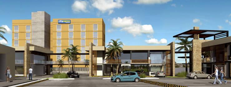 PLAZA POZA RICA: Casas de estilo  por TREVINO.CHABRAND | Architectural Studio