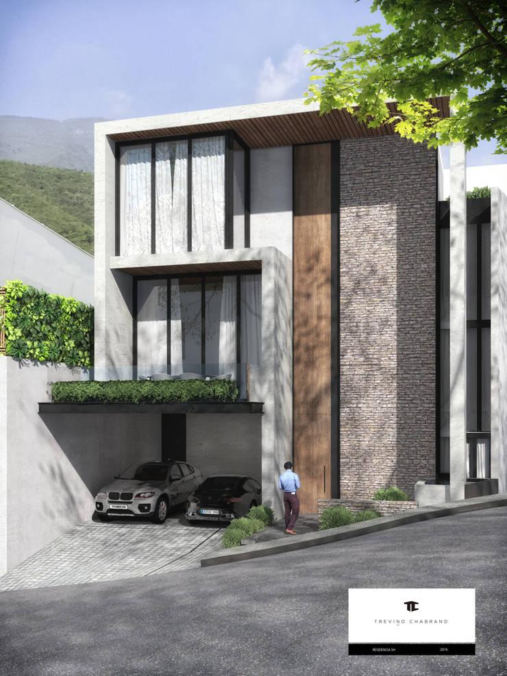 RESIDENCIA SH 2: Casas de estilo  por TREVINO.CHABRAND | Architectural Studio