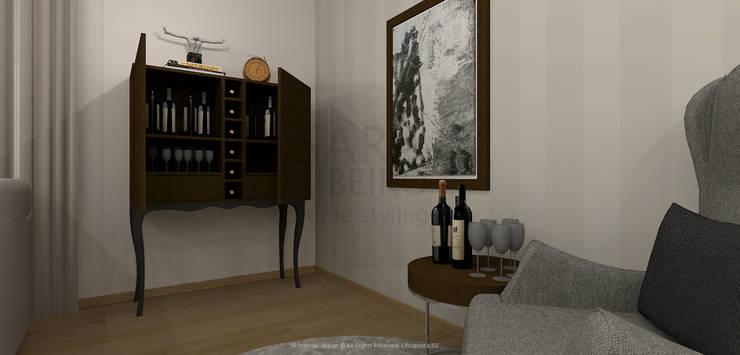 Stripes & Flower Living Room: Salas de jantar  por Sara Ribeiro - Arquitetura & Design de Interiores