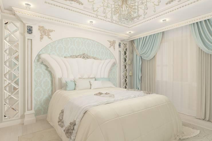 غرفة نوم تنفيذ Студия дизайна mOOza