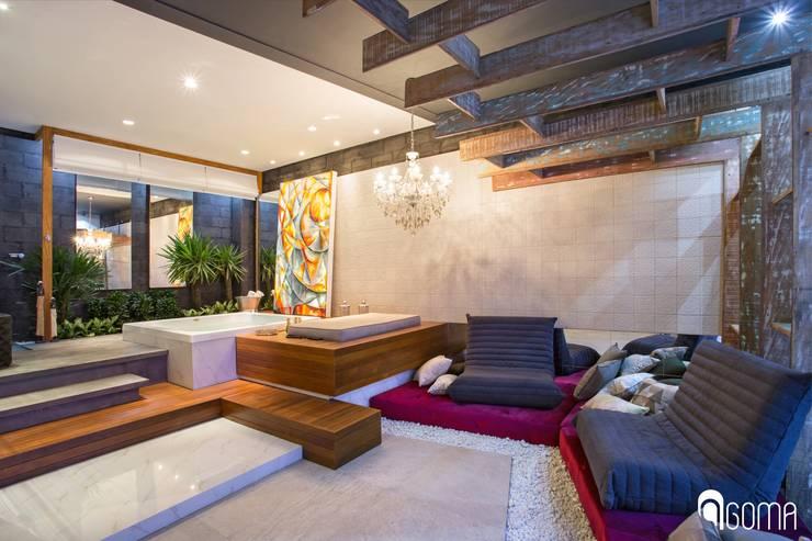 Projekty, nowoczesne Spa zaprojektowane przez GOMA Arquitetura