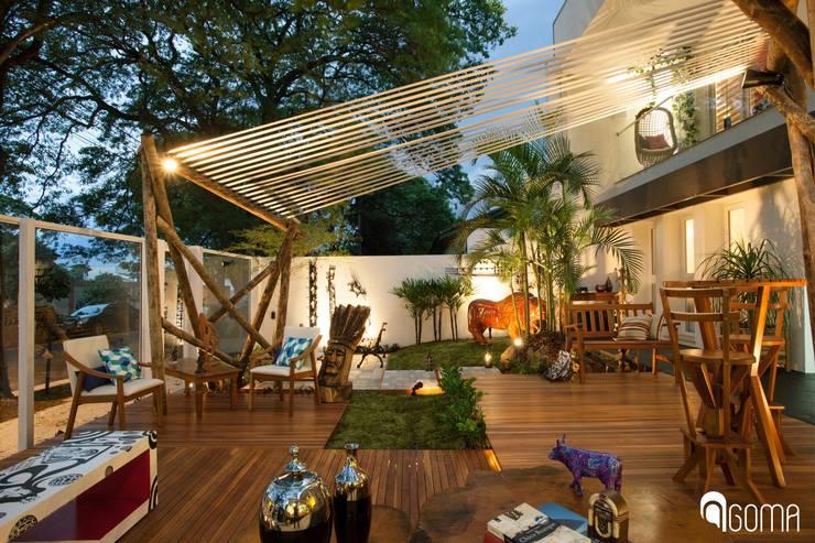 庭院 by GOMA Arquitetura