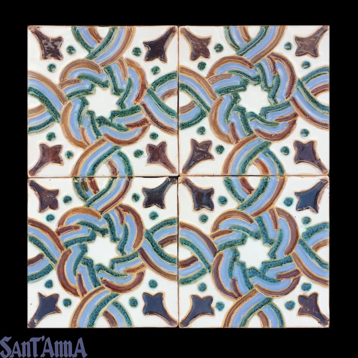 Azulejo Hispano-Mourisco:   por Sant'Anna