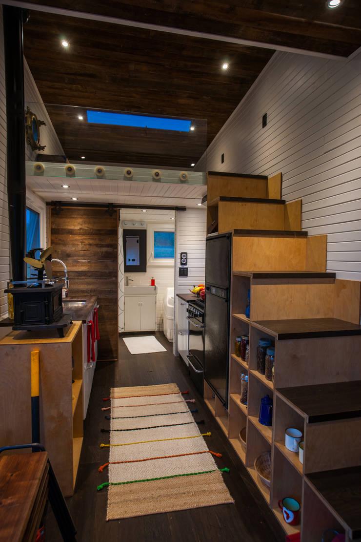 Greenmoxie Tiny House:  Dining room by Greenmoxie Magazine