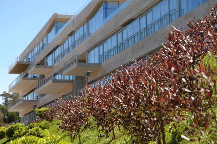 Edificio Acqua Punta del Este: Jardines de estilo  por NATURHABITAT SA DE CV