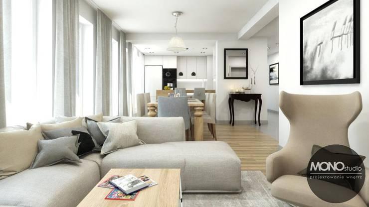 Livings de estilo escandinavo por MONOstudio