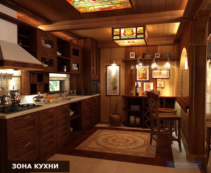 مطبخ تنفيذ Студия интерьера Дениса Серова