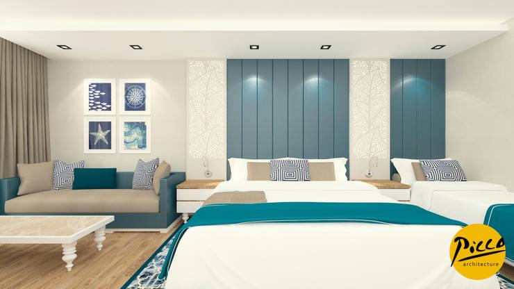 Pıcco Desıgn & Archıtecture – Baia Hotel:  tarz Yemek Odası, Akdeniz