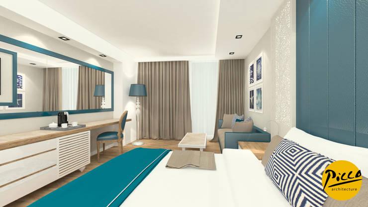 Pıcco Desıgn & Archıtecture – Baia Hotel:  tarz Yatak Odası, Akdeniz
