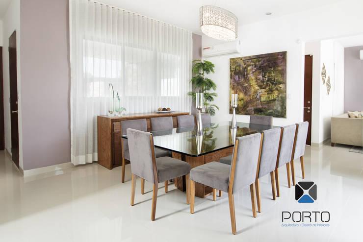 """""""PROYECTO LDZ26"""": Comedores de estilo  por PORTO Arquitectura + Diseño de Interiores"""