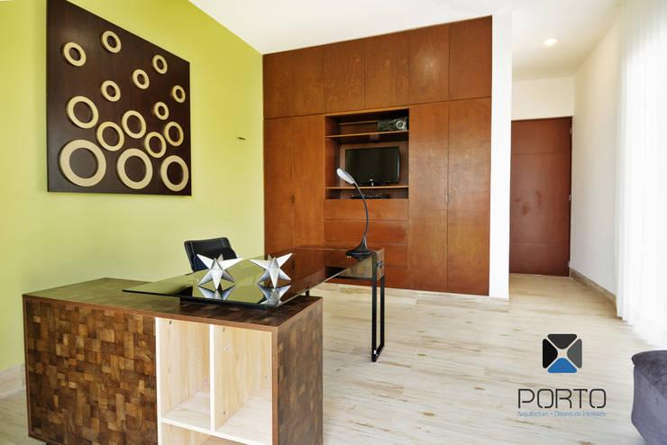 """""""PROYECTO LDZ26"""": Estudios y oficinas de estilo  por PORTO Arquitectura + Diseño de Interiores"""