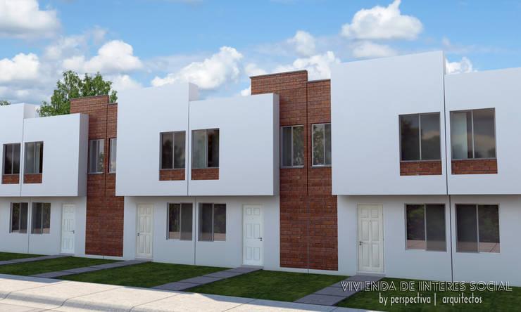 Vivienda de Interes Social...: Casas de estilo minimalista por Perspectiva Arquitectos México