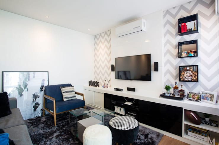Living room by Apê 102 Arquitetura