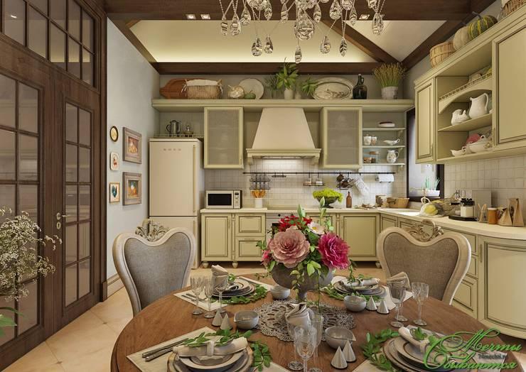 Классическая веранда и кухня экстра-класса: Кухни в . Автор – Компания архитекторов Латышевых 'Мечты сбываются'