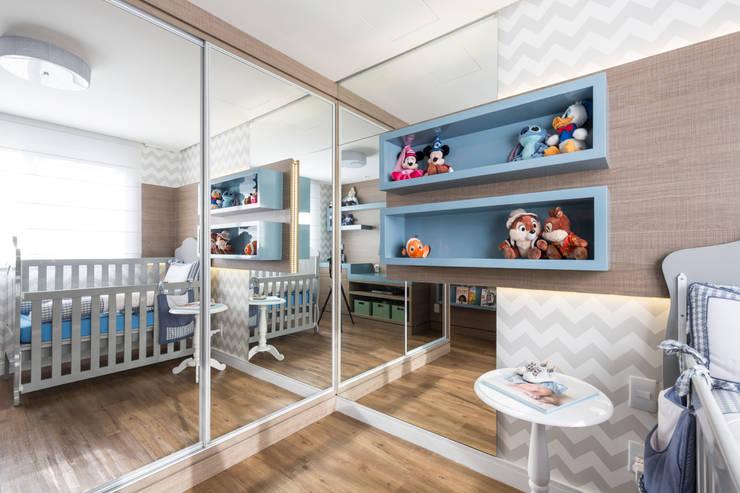 غرفة الاطفال تنفيذ Aline Dal Pizzol Aquitetura e Interiores