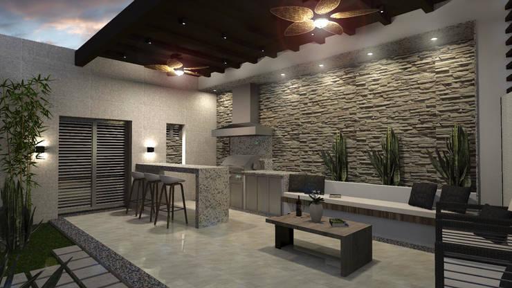Residencia Corceles: Casas de estilo  por MOBAH Arquitectura
