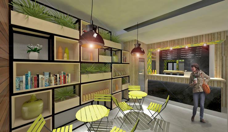 Diseño de interiores: Restaurantes de estilo  por MOBAH Arquitectura