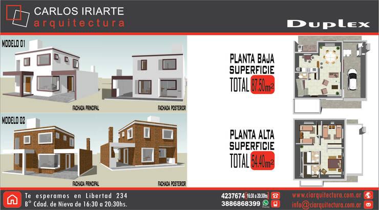 Vivienda en San Salvador de Jujuy: Casas de estilo  por Carlos Iriarte arquitectura,