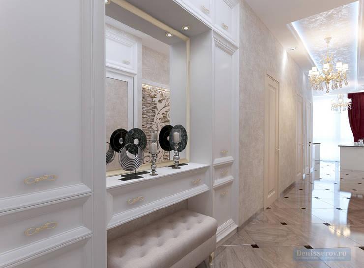 Дизайн трехкомнатной квартиры в классическом стиле площадью 100 кв.м: Коридор и прихожая в . Автор – Студия интерьера Дениса Серова