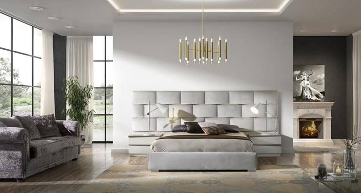 Mobiliário de quarto Bedroom furniture www.intense-mobiliario.com  NILREB http://intense-mobiliario.com/pt/quartos/12081-quarto-nilreb.html: Quarto  por Intense mobiliário e interiores;