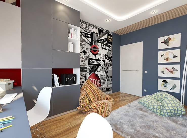 Dormitorios infantiles de estilo  por Студия интерьера Дениса Серова