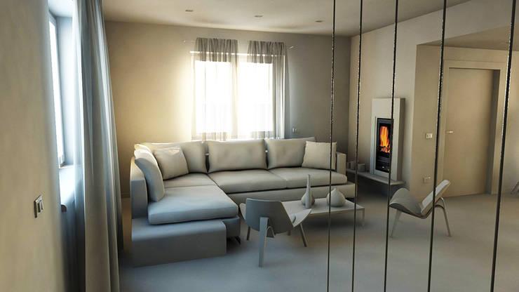 Living room by bram architetti, Minimalist Concrete