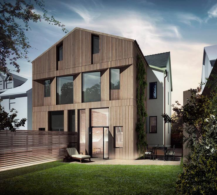 Rear elevation Maisons modernes par guy taylor associates Moderne Bois Effet bois