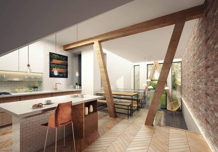 Kitchen Cuisine moderne par guy taylor associates Moderne Bois Effet bois