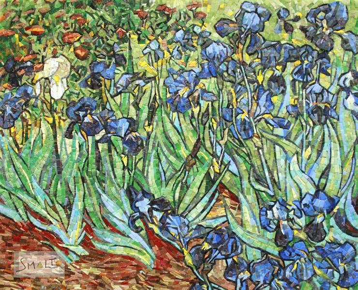 Работа Ван Гога «Ирисы» : Произведения искусства в . Автор – Мастерская художественной мозаики 'SMALTO'