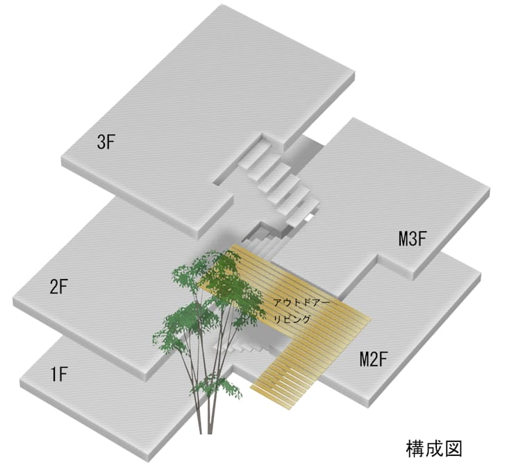 「坂道の小さな家」: Kenji Yanagawa Architect and Associatesが手掛けたです。