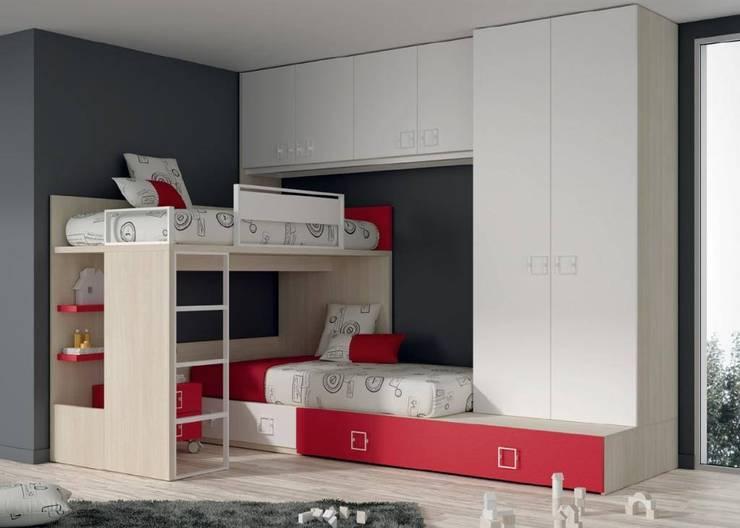 Dormitorios infantiles  de estilo  por Muebles Soliño