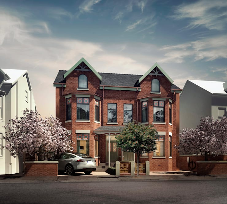Front elevation :  Houses by guy taylor associates