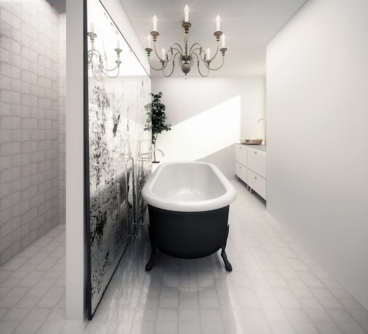 Bathroom Salle de bain moderne par guy taylor associates Moderne Tuiles